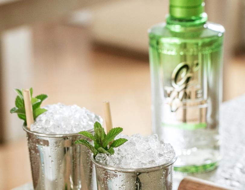 Le gin avec de la menthe